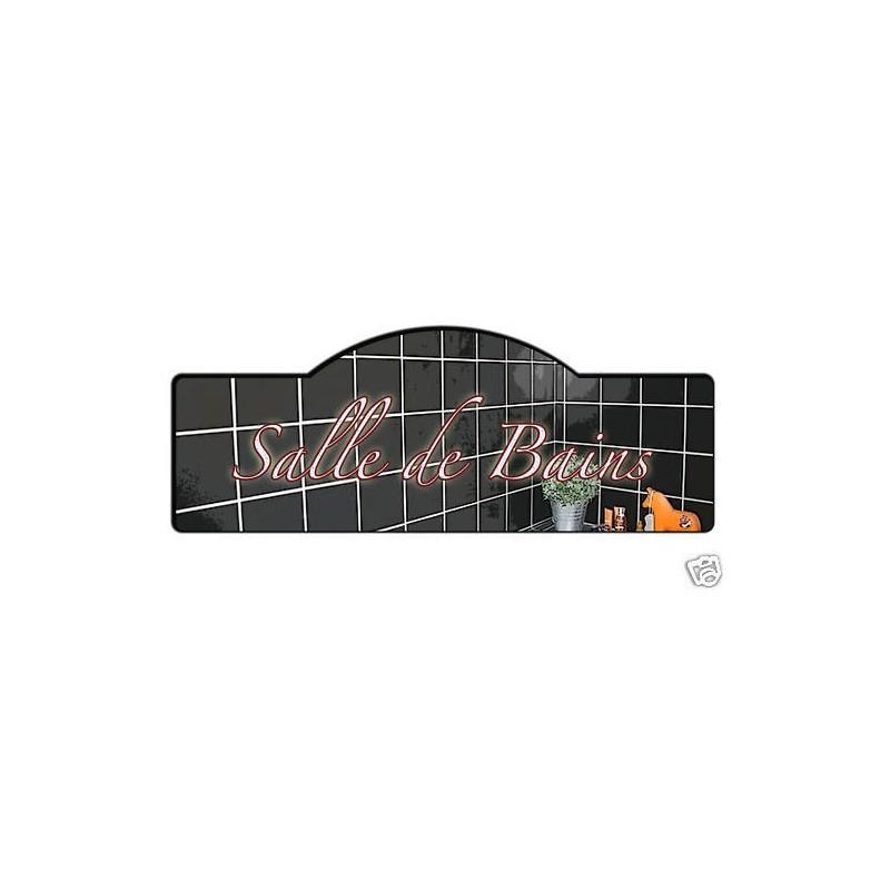 Plaque de porte salle de bains tamalou et bobola for Plaque de salle de bain