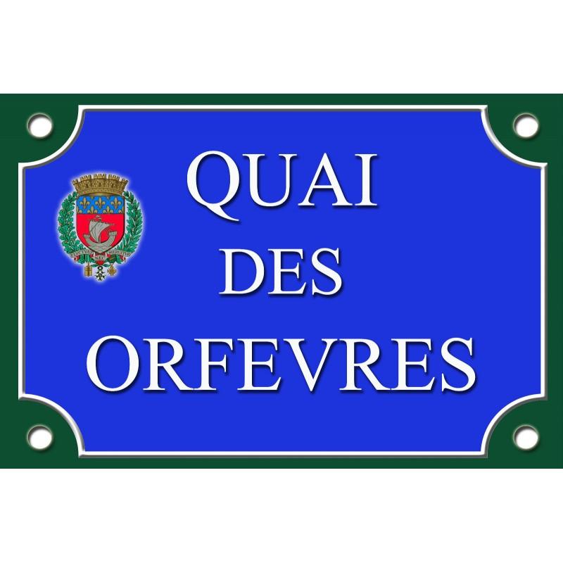Plaque de rue quai des orfevres paris tamalou et bobola for Exterieur quai le bouillon de l est