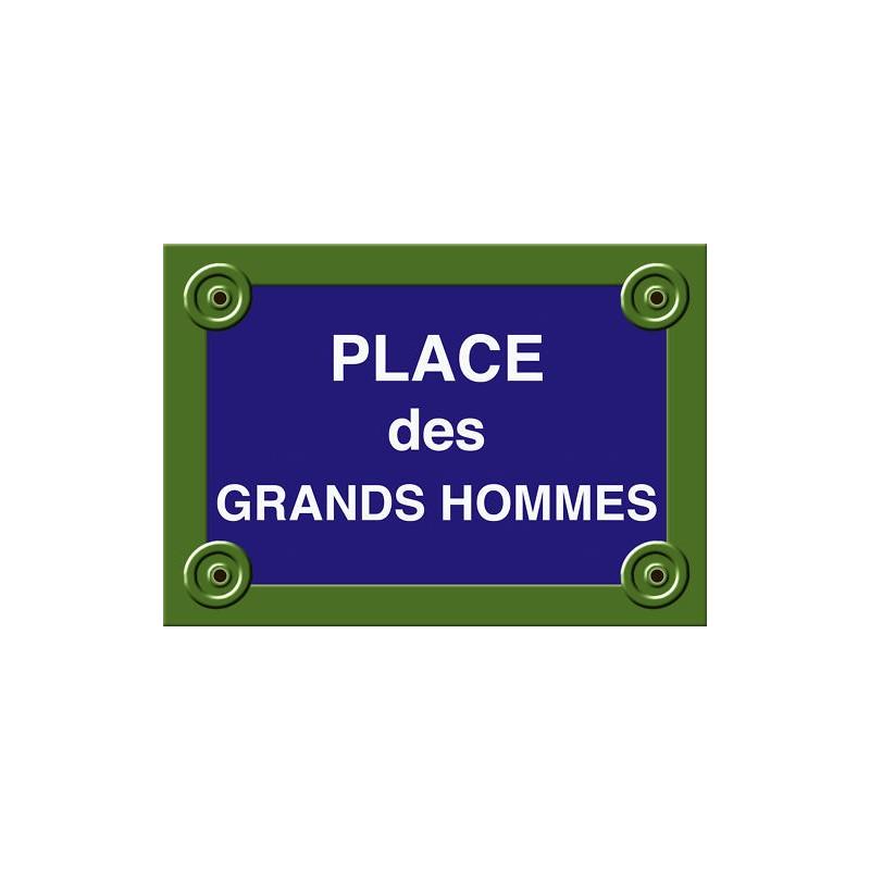 plaque rue bordeaux bruel place des grands hommes tamalou et bobola. Black Bedroom Furniture Sets. Home Design Ideas
