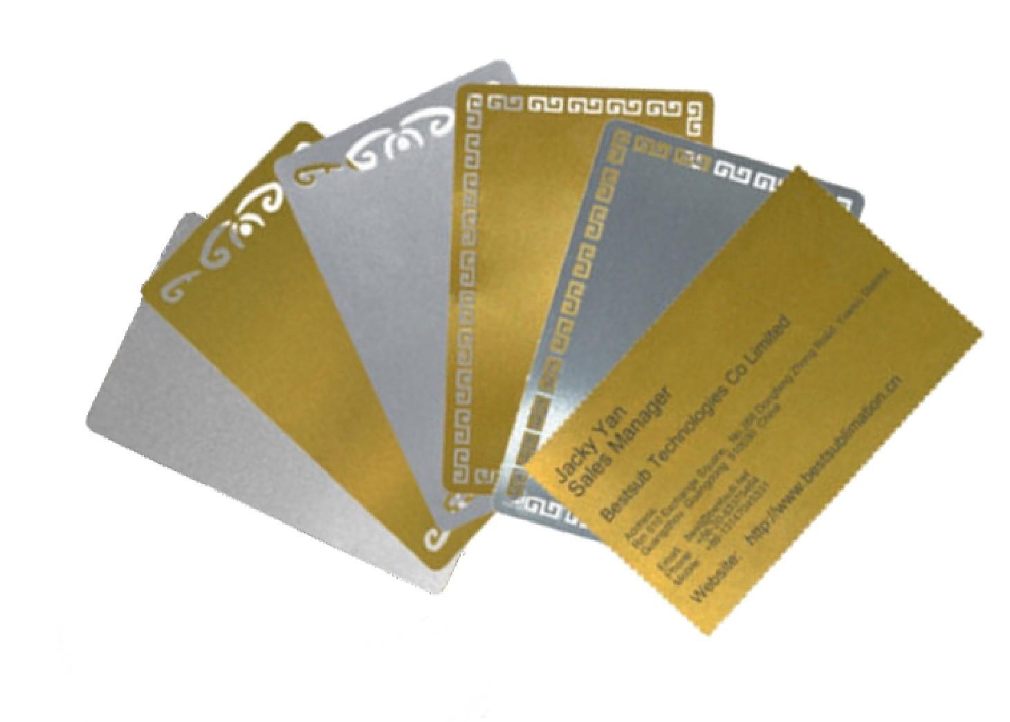 Carte De Visite En Aluminium Souple Personnalisable