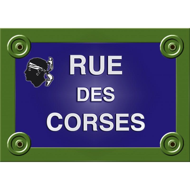 PLAQUE de RUE Collection FRANCE SAVOIE CHAMBÉRY Personnalisable ALU 20x30cm